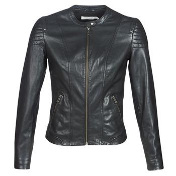 Odjeća Žene  Kožne i sintetičke jakne Naf Naf CLIM Crna