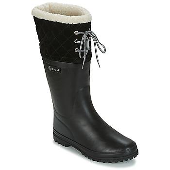 Obuća Žene  Gumene čizme Aigle POLKA GIBOULEE Black