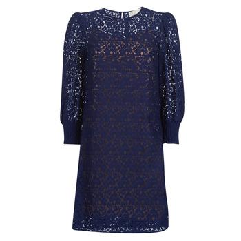 Odjeća Žene  Kratke haljine MICHAEL Michael Kors BLOUSON SLV LACE DRS Blue