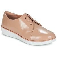 Obuća Žene  Derby cipele FitFlop DERBY CRINKLE PATENT Taupe