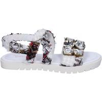 Obuća Žene  Sandale i polusandale Ioannis sandali bianco tessuto strass BT873 Bianco