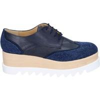 Obuća Žene  Derby cipele & Oksfordice Olga Rubini classiche blu pelle sintetica camoscio strass BS96 Blu