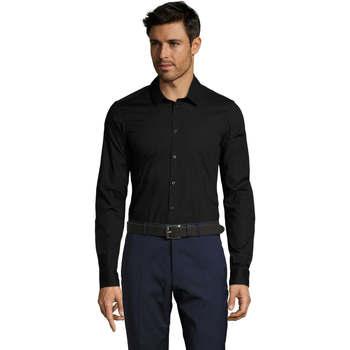 Odjeća Muškarci  Košulje dugih rukava Sols BLAKE MODERN MEN Negro