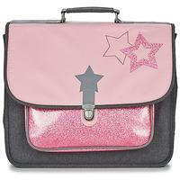 Torbe Djevojčica Školske torbe Citrouille et Compagnie SCUOLA 41 CM Ružičasta / Siva