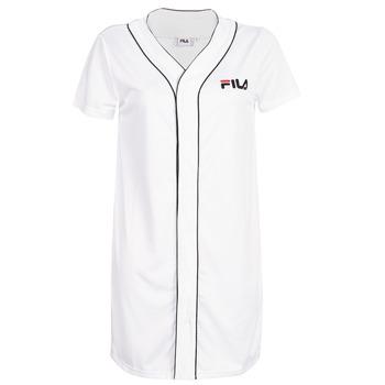 Odjeća Žene  Kratke haljine Fila WOMEN ROBIN button baseball dr Bijela
