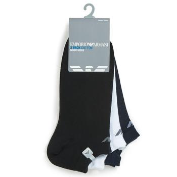 Modni dodaci Muškarci  Čarape Emporio Armani CC134-300008-00997 Bijela / Crna