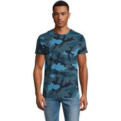 Odjeća Muškarci  Majice kratkih rukava Sols CAMOUFLAGE DESIGN MEN Azul