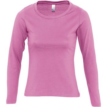 Odjeća Žene  Majice dugih rukava Sols MAJESTIC COLORS GIRL Rosa