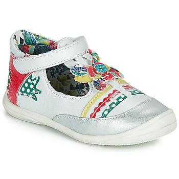 Obuća Djevojčica Balerinke i Mary Jane cipele Catimini PANTHERE Bijela / Multicolour