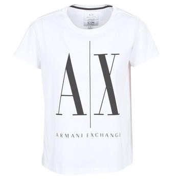 Odjeća Žene  Majice kratkih rukava Armani Exchange 8NYTCX-YJG3Z-5102 Bijela
