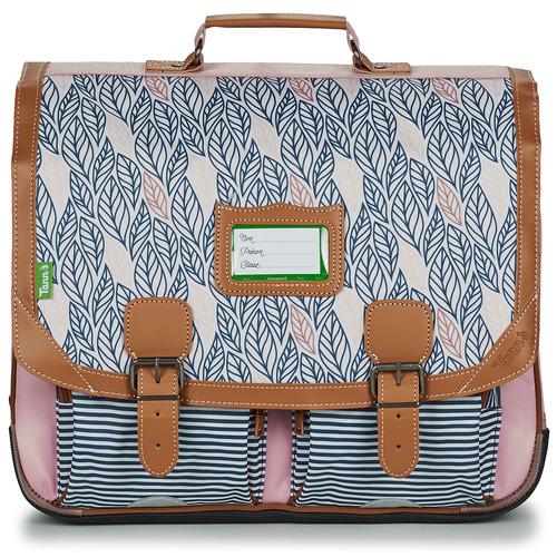 Torbe Djevojčica Školske torbe Tann's CREATION FLORE CARTABLE 41 CM Ružičasta