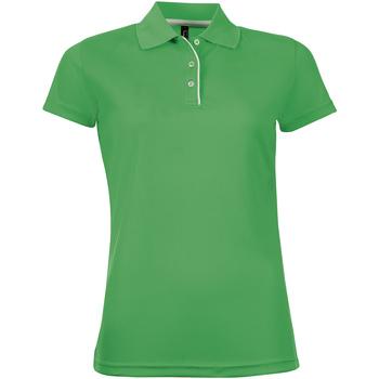 Odjeća Žene  Polo majice kratkih rukava Sols PERFORMER SPORT WOMEN Verde