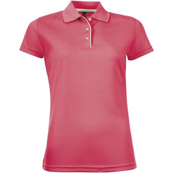 Odjeća Žene  Polo majice kratkih rukava Sols PERFORMER SPORT WOMEN Rosa