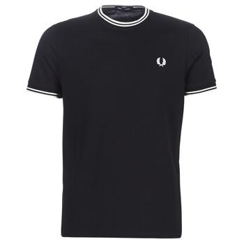 Odjeća Muškarci  Majice kratkih rukava Fred Perry TWIN TIPPED T-SHIRT Crna