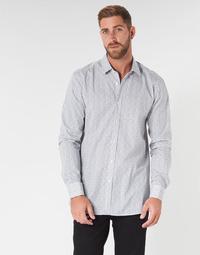 Odjeća Muškarci  Košulje dugih rukava HUGO ELISHA02 Bijela / Crna