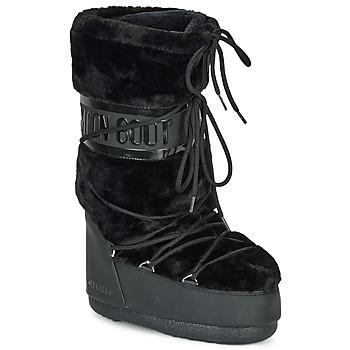 Obuća Žene  Čizme za snijeg Moon Boot MOON BOOT CLASSIC FAUX FUR Crna