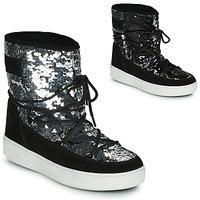 Obuća Žene  Čizme za snijeg Moon Boot MOON BOOT PULSE MID DISCO Crna / Šljokice