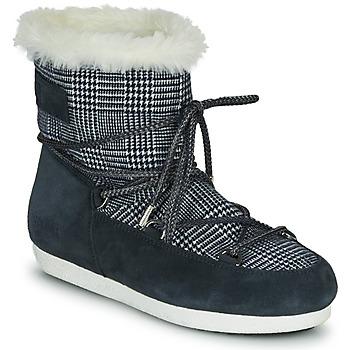 Obuća Žene  Čizme za snijeg Moon Boot MOON BOOT FAR SIDE LOW FUR TARTAN Blue