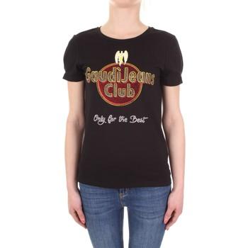 Odjeća Žene  Majice kratkih rukava Gaudi 911BD64039 Nero
