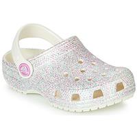 Obuća Djevojčica Klompe Crocs CLASSIC GLITTER CLOG K Bijela