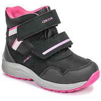 Obuća Djevojčica Čizme za snijeg Geox J KURAY GIRL B ABX Crna / Ružičasta
