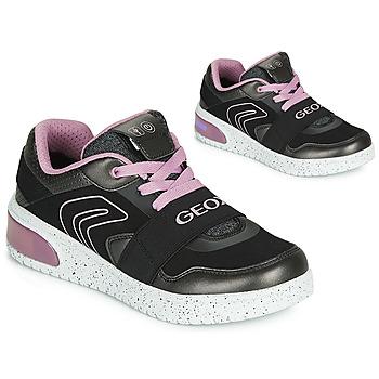 Obuća Djevojčica Visoke tenisice Geox J XLED GIRL Crna / Ružičasta / Led