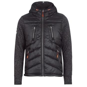 Odjeća Muškarci  Pernate jakne Superdry STORM HYBRID ZIPHOOD Crna