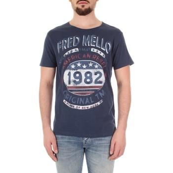 Odjeća Muškarci  Majice kratkih rukava Fred Mello FM19S09TG Blu