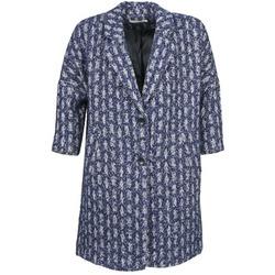Odjeća Žene  Kaputi See U Soon RIFFLE Blue / Bijela