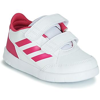 Obuća Djevojčica Niske tenisice adidas Performance ALTASPORT CF I Bijela / Ružičasta