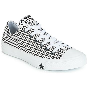 Obuća Žene  Niske tenisice Converse CHUCK TAYLOR ALL STAR VLTG LEATHER OX Bijela / Crna