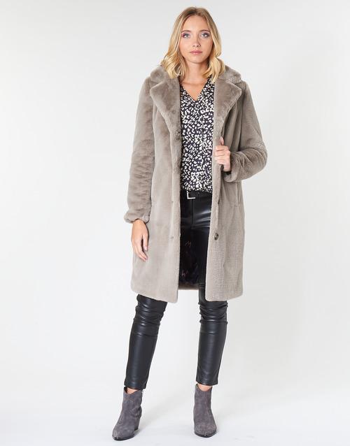 Odjeća Žene  Kaputi Oakwood CYBER Tmavá / Bež