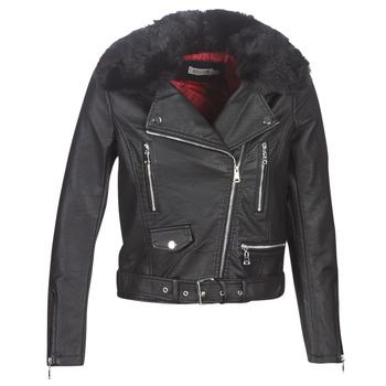 Odjeća Žene  Kožne i sintetičke jakne Molly Bracken HA006A21 Crna