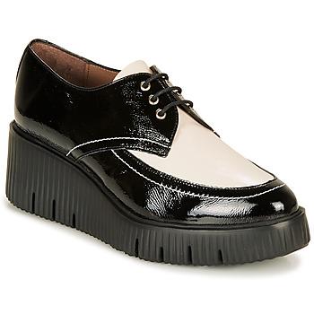 Obuća Žene  Derby cipele Wonders E6204-LACK-NEGRO-MILK Crna / Bijela