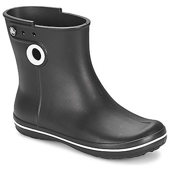 Obuća Žene  Gumene čizme Crocs JAUNT SHORTY BOOT W-BLACK Crna