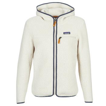 Odjeća Žene  Flisevi Patagonia W'S RETRO PILE HOODY Bijela