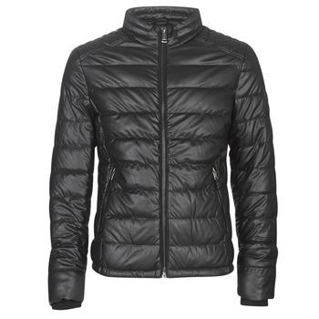 Odjeća Muškarci  Kožne i sintetičke jakne Guess STRETCH PU QUILTED Crna