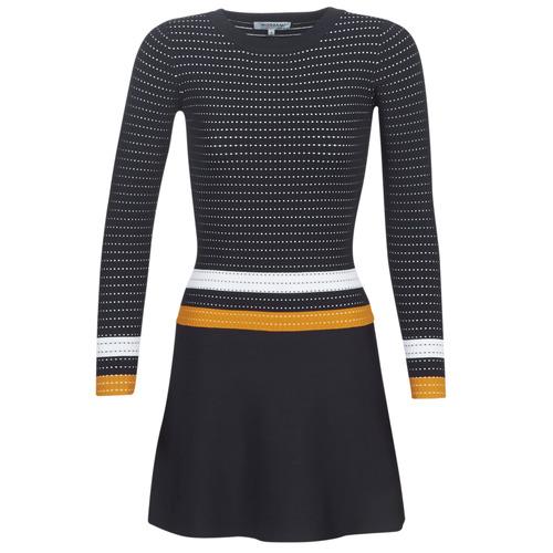 Odjeća Žene  Kratke haljine Morgan ROXFA Bijela / Žuta