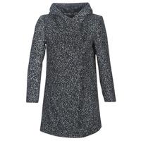 Odjeća Žene  Kaputi Casual Attitude LOUA Siva / Crna