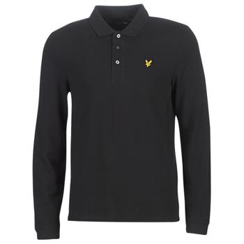 Odjeća Muškarci  Polo majice dugih rukava Lyle & Scott LP400VB-574 Crna