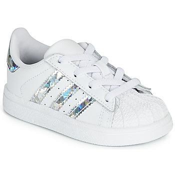 Obuća Djevojčica Niske tenisice adidas Originals SUPERSTAR EL I Bijela / Srebrna