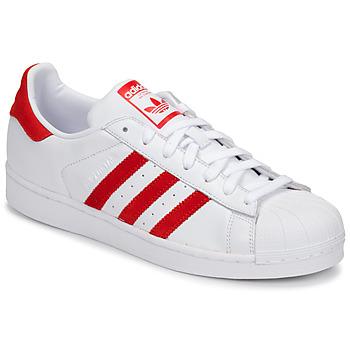 Obuća Niske tenisice adidas Originals SUPERSTAR Bijela / Red