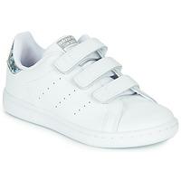 Obuća Djevojčica Niske tenisice adidas Originals STAN SMITH CF C Bijela / Srebrna