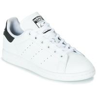 Obuća Djeca Niske tenisice adidas Originals STAN SMITH J Bijela / Crna