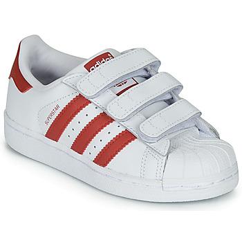 Obuća Djeca Niske tenisice adidas Originals SUPERSTAR CF C Bijela / Red