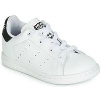 Obuća Djeca Niske tenisice adidas Originals STAN SMITH EL I Bijela / Crna