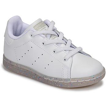 Obuća Djevojčica Niske tenisice adidas Originals STAN SMITH EL I Bijela / Šljokice