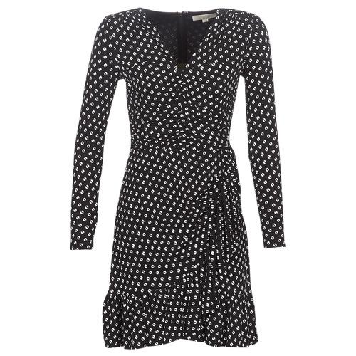 Odjeća Žene  Kratke haljine MICHAEL Michael Kors ELV DOT SHRD LS DRS Crna