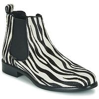 Obuća Žene  Polučizme Betty London HUGUETTE Crna / Bijela / Zebra