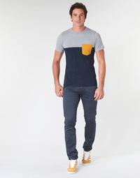 Odjeća Muškarci  Chino hlačei hlače mrkva kroja Le Temps des Cerises JAS3 Blue
